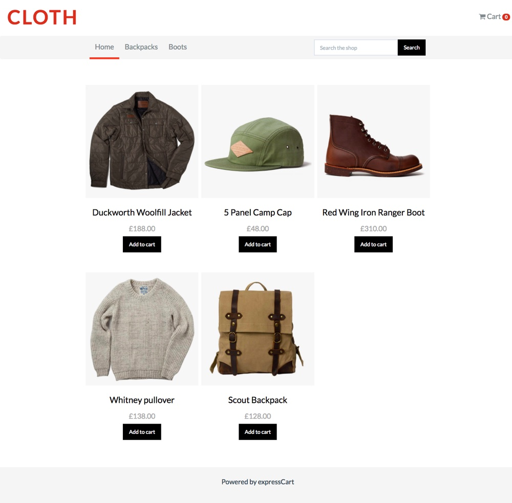 Sample homepage